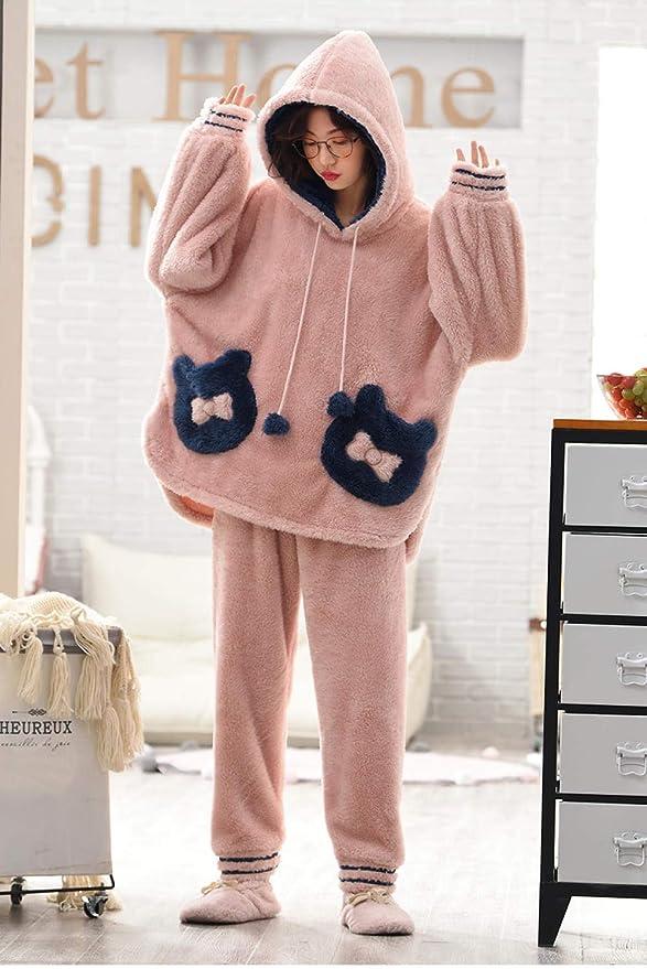 Bayrick Pijamas Mujer Invierno Polar,Pijama de Franela de ...