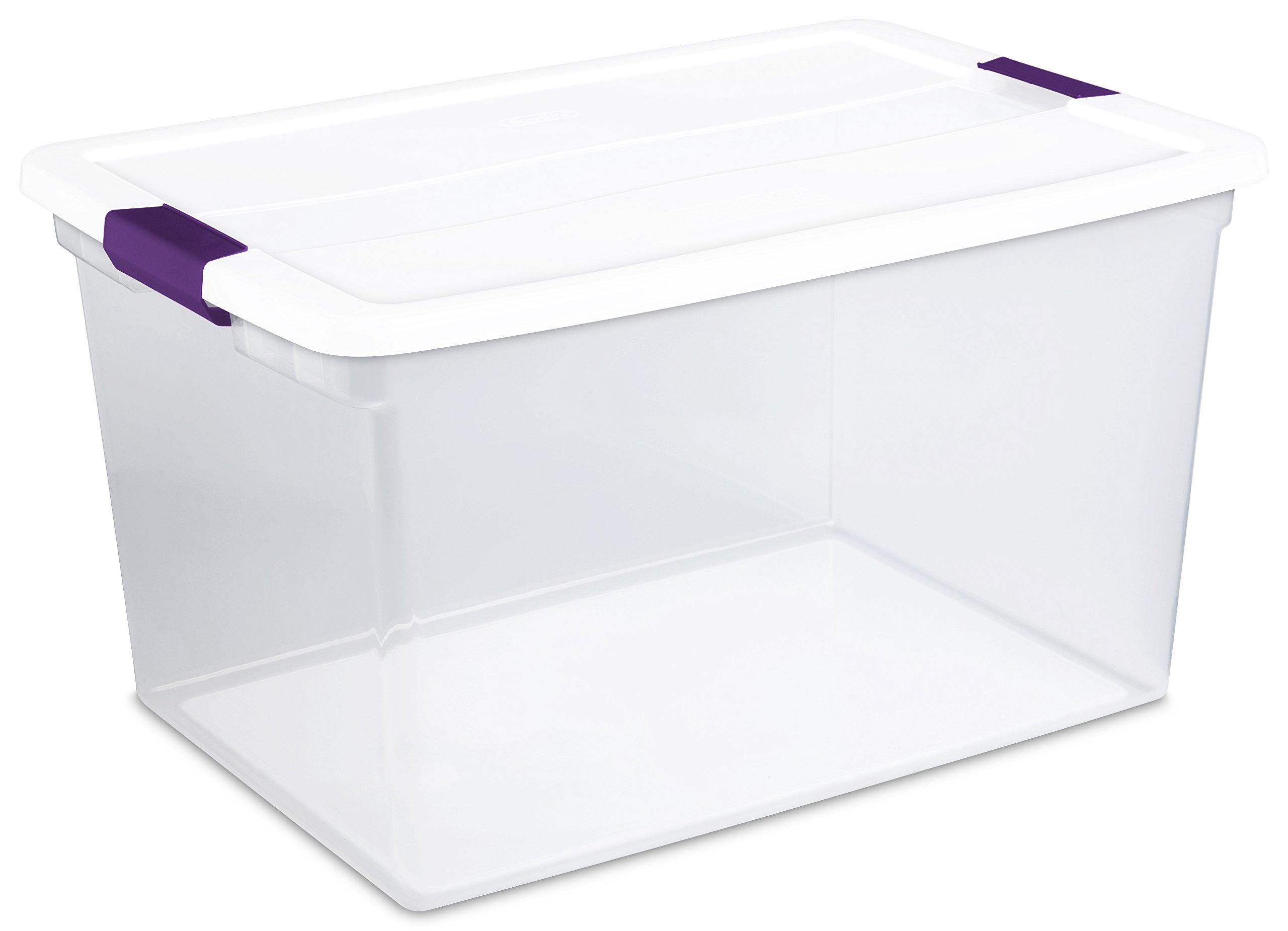 STERILITE 17578006 66 Quart/62 Liter Clearview Latch Box, White, 6-Pack by STERILITE