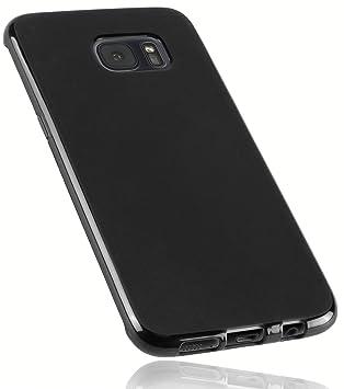 Mumbi 12712 - Carcasa para Samsung Galaxy S7 Edge, de Silicona, Color Negro