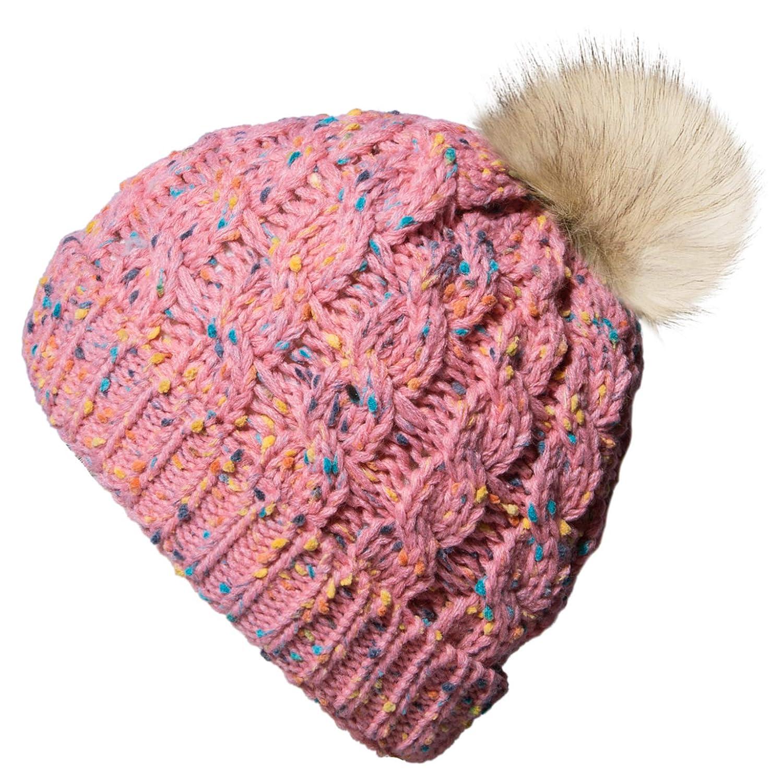 Amazon.com  Amandir Kids Winter Hats Fleece Lined Knit Toddler Girls Beanie  Baby Confetti Warm Pom Pom Cap  Clothing dd74ec28ba7