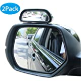 EEEKit 2-pack Right + Left 360 Degree Adjustable Wide Angle Side Rear Mirrors Universal Blind Spot Snap Way Rear View Mirror