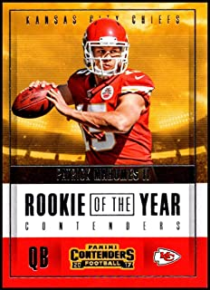 9d732fcd7b7 ... Kansas City Chiefs. $45.00 · 2017 Panini Contenders Rookie of the Year  Contenders #3 Patrick Mahomes II NM-MT