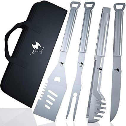 Amazon.com: Kona Premium – Set de herramientas para parrilla ...