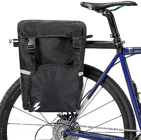 WUZHENG Bolsa De Maletero para Bicicletas - Paquete De Alforjas para Bicicletas De 15 litros Ciclismo Accesorios para Maletas Bolso Impermeable con Bolsa En El Asiento Trasero: Amazon.es: Deportes y aire libre