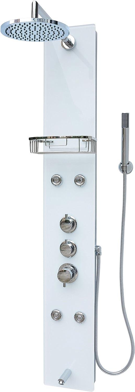Cristal columna de ducha Ducha Panel Ducha Panel Ducha de lluvia ...