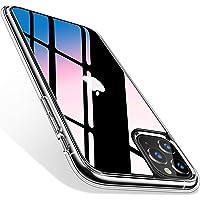 TORRAS iPhone 11 Pro 用 ケース 9Hガラス背面+TPUバンパー 高透明 日本旭硝子製 滑り止め 黄変/指紋防止 耐衝撃 三層構造アイフォン 11 Pro 用 ガラスカバー (クリスタル・クリア)[ Fancy Series]