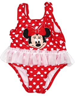 4ea8a5dff2ec9 Amazon.com: Minnie Mouse Girls Swimwear Swimsuit (2T, Pink): Clothing
