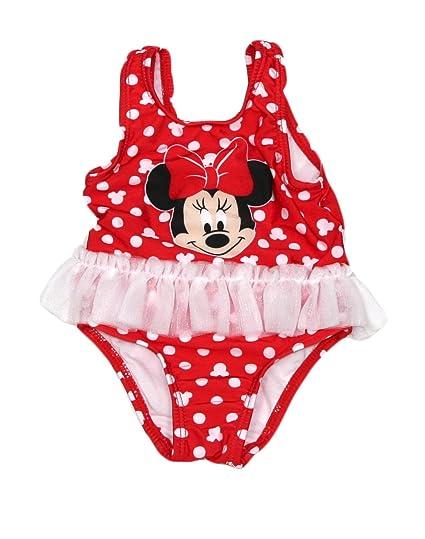 4835f1c57 Amazon.com: Disney Girls Minnie Mouse One-Piece Polka-Dot Swimsuit ...