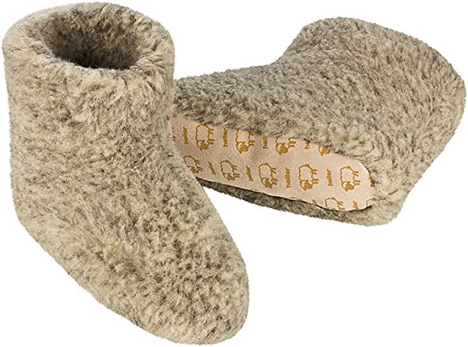 Vertrieb et – Heller hauts de laine en Femme mouton Chaussons 100pure Homme Gris TFKl1Jcu3