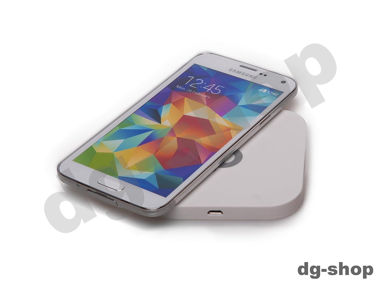 Blanco S5 inalámbrico Wireless carga Qi Cargador Cargador De ...