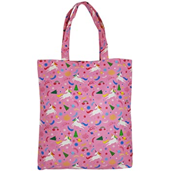 c1605c36e8e8 Adeley Cute Pink Medium Unicorn Rainbow Reusable Waterproof Shoulder  Handbag Tote Bag for...