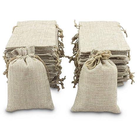 Bolsas de arpillera BeGrit con cordón para regalo, bolsa de ...