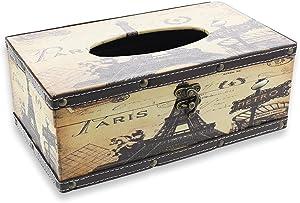 Le Juvo Paris Design Rectangular Tissue Box Wood Cover Holder, 10 x 6 x 4 inches