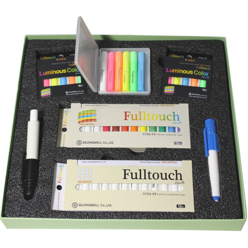 Sejong Set No.2 (Hagoromo Chalks, Chalk Holder, Chalk Case) by Hagoromo