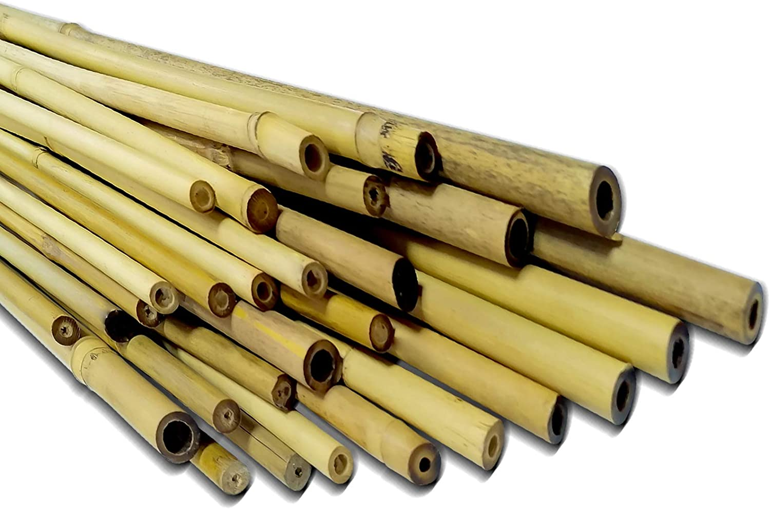 Andyrex Natural Bamboo Stakes,Garden Stakes for Plants,Plant Stakes Supports Climbing for Tomatoes,Trees,Beans (3 Feet 25 Pack)