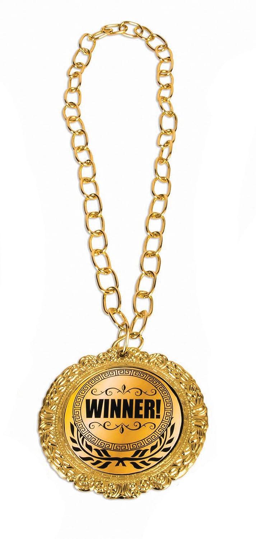 Award MedalオリンピックテーマMedallionノベルティネックレス B075V9WLCG Winner