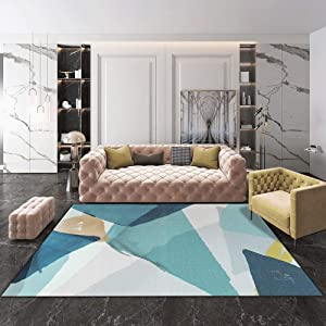 QUD Multicolor Glamour Collection Non-Slip Moroccan Trellis Design Runner Rug Home Decor 7/13 (Color : X, Size : 160CMX230CM)