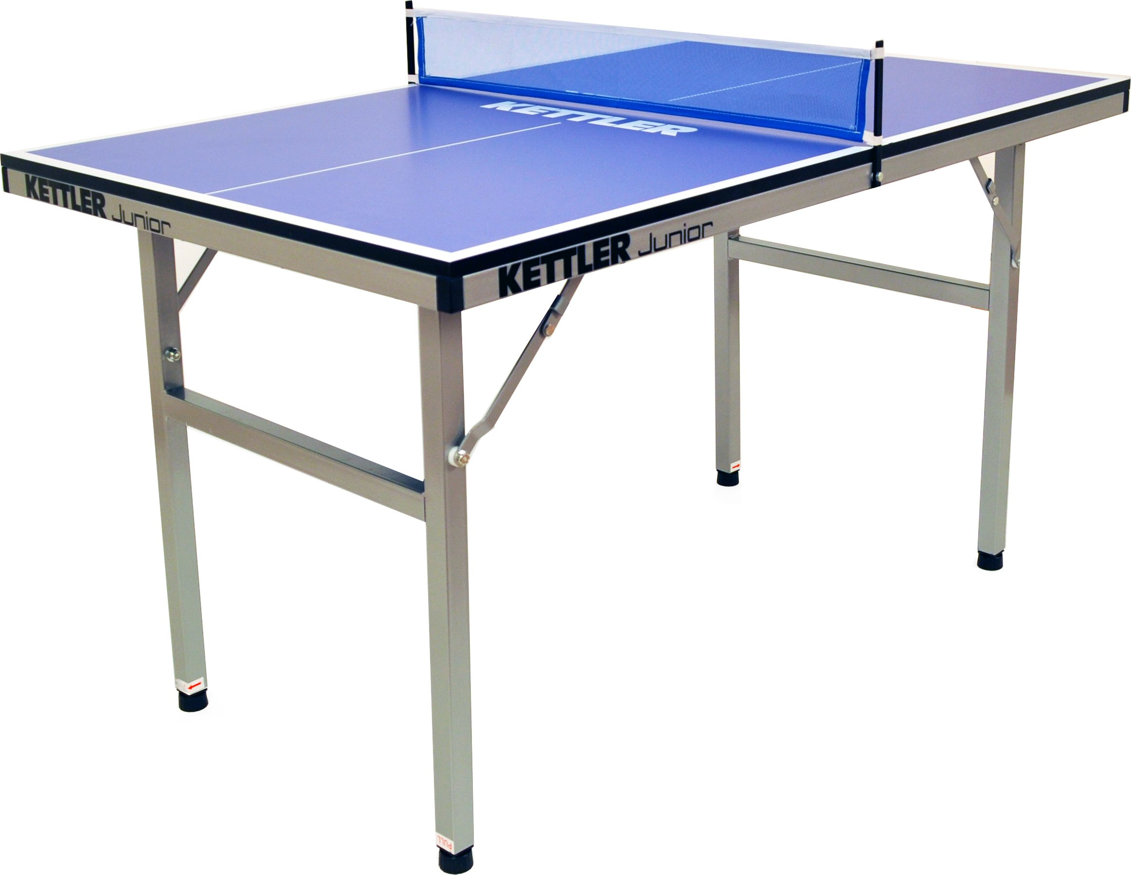 Kettler Junior Mid-Sized Collapsible Indoor Table Tennis Table, Blue Top
