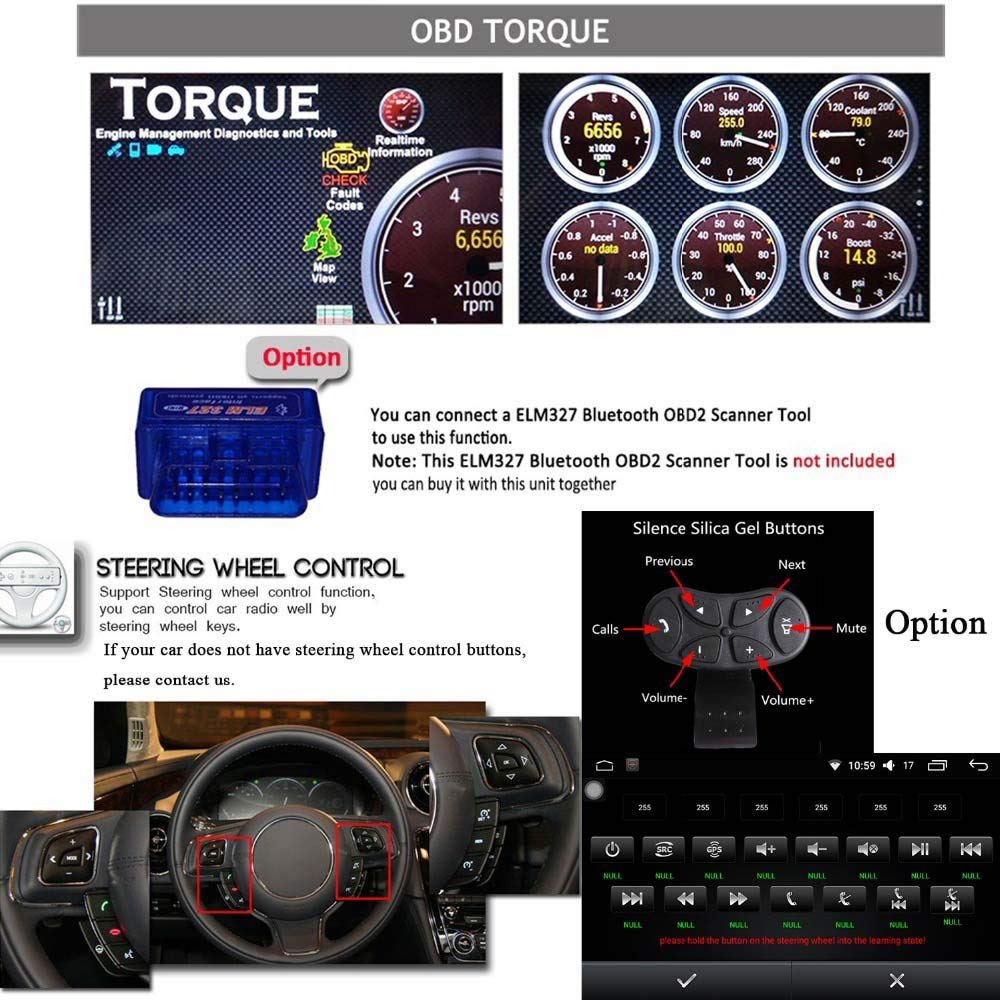 """Double Din Vehicle Navigation Touch Screen,Android 7.1 1GB RAM 16GB ROM 7/""""Car Radio AM//FM Radio Receiver//Bluetooth//GPS//WiFi Connection//Mirror Link"""