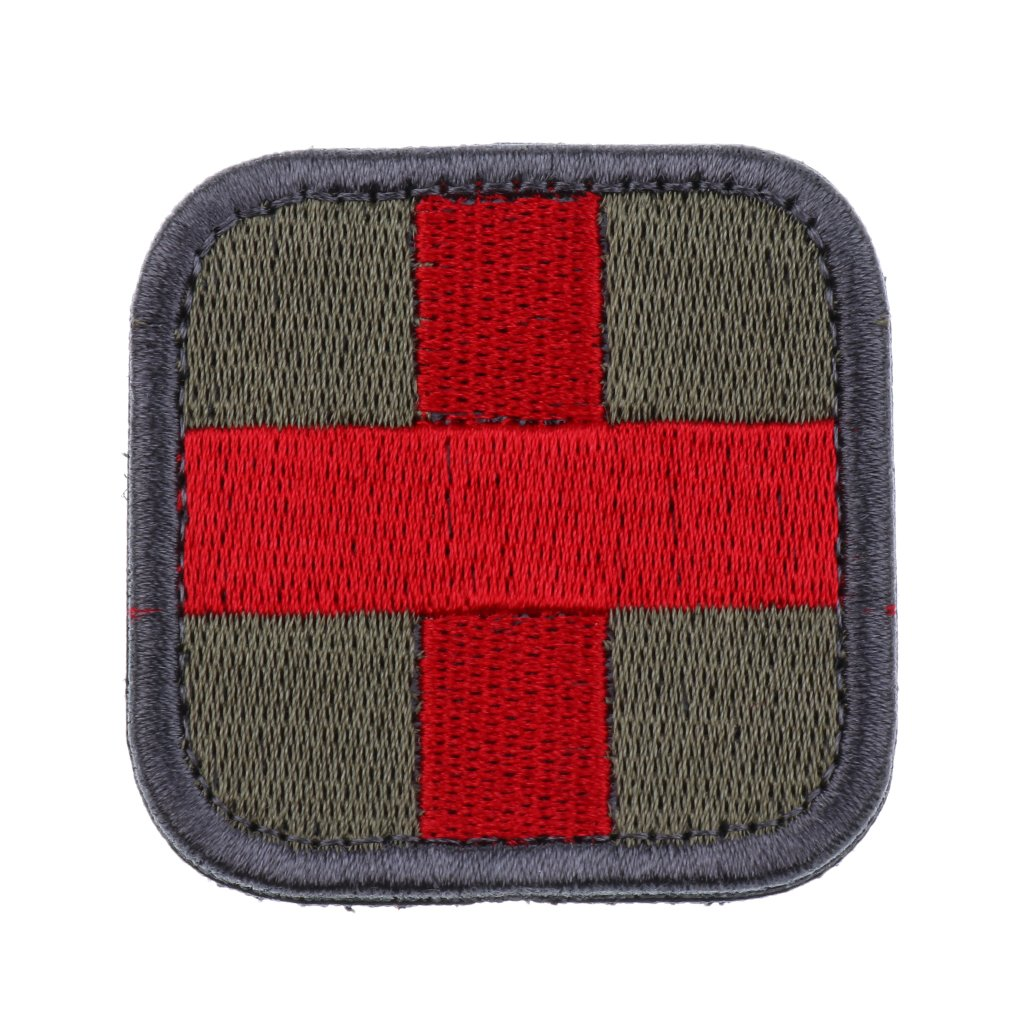 Rescate M/édico de Cruz Roja Cap/ítulo Moral Militar Insignias Y S/ímbolos P Prettyia Productos para Exteriores en Brazalete de Nylon
