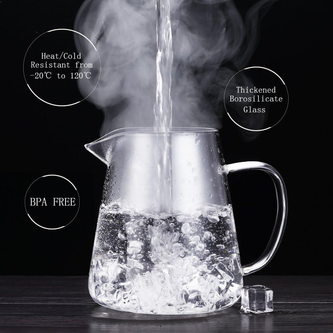 oneisall dgybl018/750/ml cristal de borosilicato resistente al calor tetera con infusor de acero inoxidable para hojas de t/é sueltas infusor de t/é olla de t/é Flor,