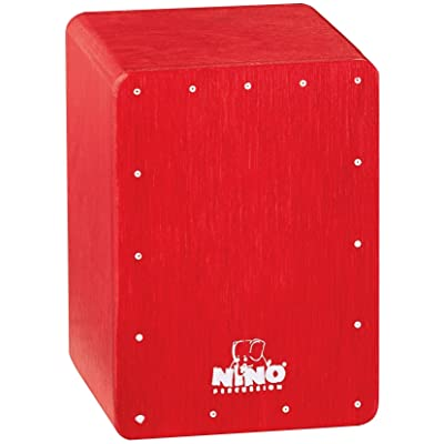 Nino Percussion NINO955R Mini Cajon Shaker, Red: Musical Instruments