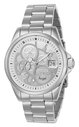 Invicta Womens Angel Quartz Watch with Stainless-Steel Strap, Silver, 20 (Model