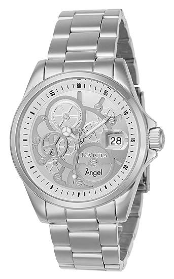 Invicta 23567 Angel Reloj para Mujer acero inoxidable Cuarzo Esfera plata   Amazon.es  Relojes 4631b55a4ca3