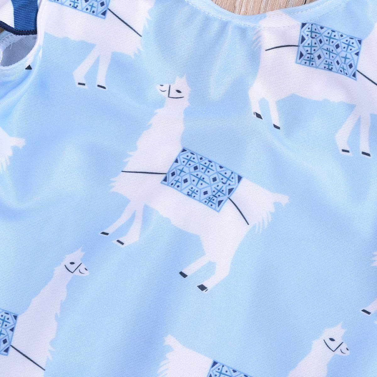 puseky Kids Toddler Girl One Piece Ruffles Animal Print Swimsuit Bathing Suit