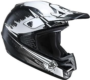 Casco de moto cross enduro policarbonato Hjc Cs-MX schwarz-weiss Talla:M