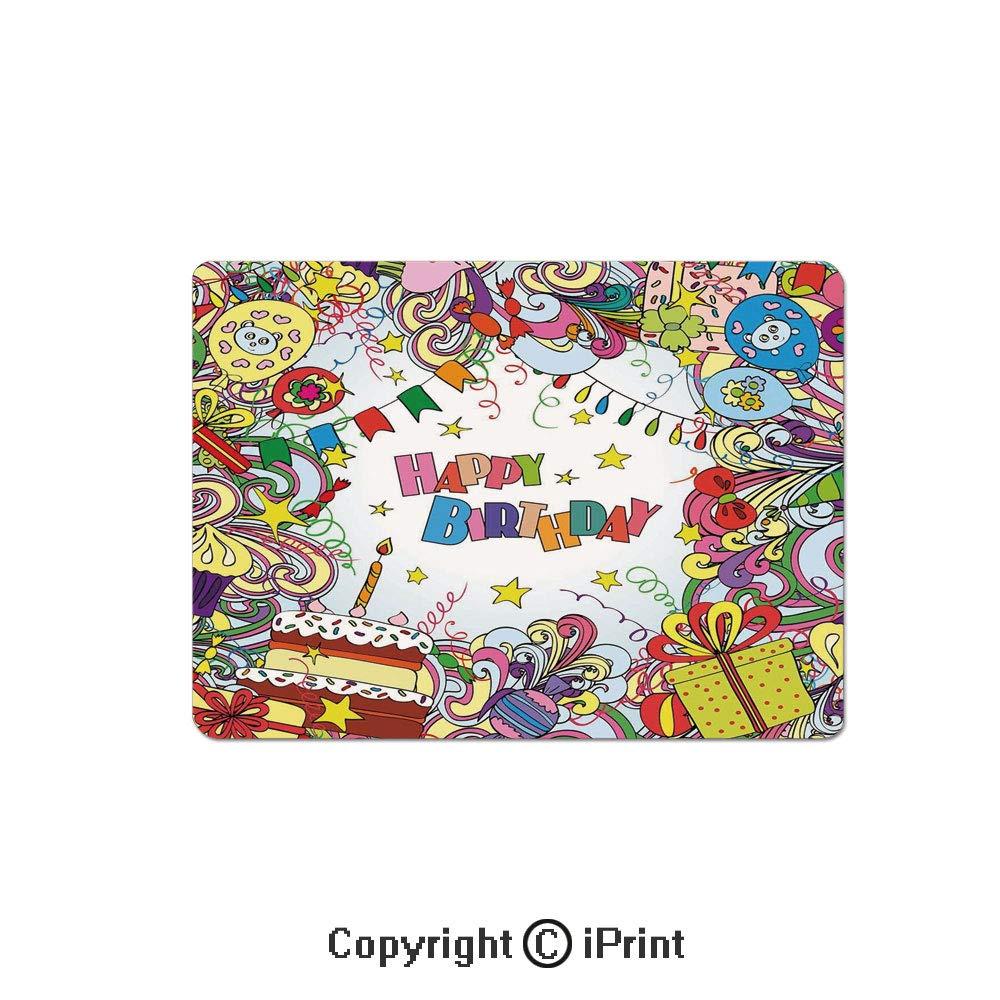 ゲーム用長方形マウスパッド、日本の神話的ヒッポカンプス像フィン The Water Waves伝説的なアートノンスリップゴムベースマウスパッド、ラップトップ、コンピュータ用、7.1x8.7インチ、グリーンブルー W7.1xL8.7inch B07R1R7KLR カラー2 W7.1xL8.7inch
