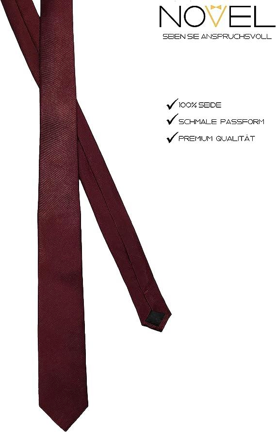 NOVEL Corbata de alta calidad / 100% seda / 6 cm de ancho ...