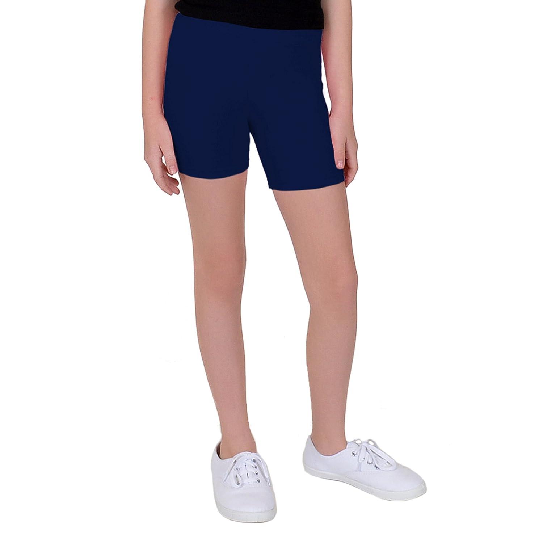 Stretch is Comfort Girl's Teamwear Cotton Biker Shorts S4001BKS-$P