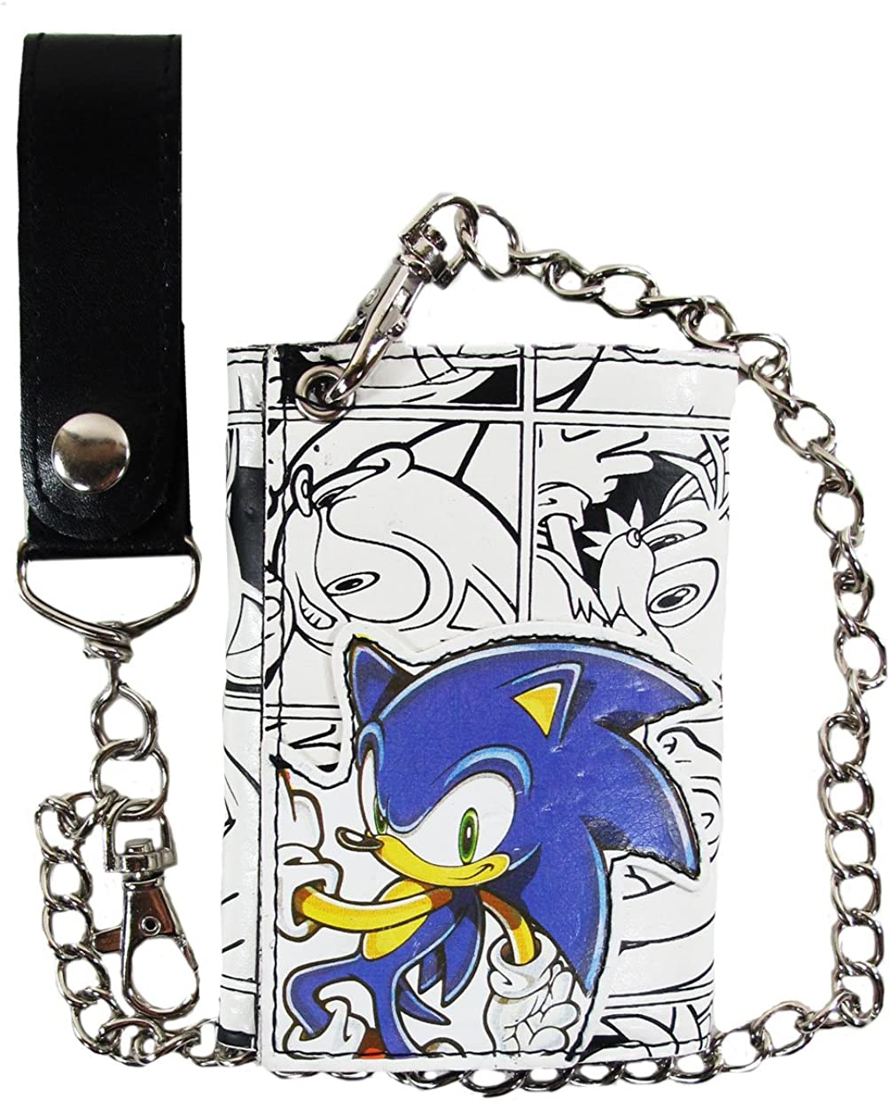 Sonic The Hedgehog Wallet With Chain Amazon Co Uk Clothing