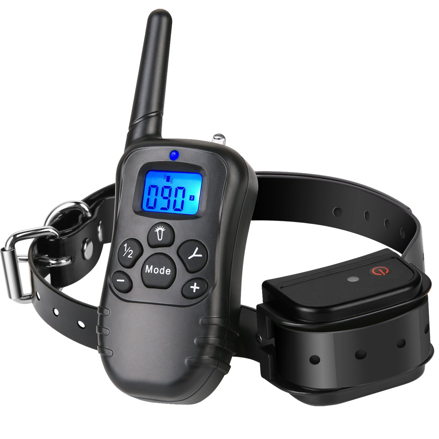 Dog Training Collar with Remote Control 100% Waterproof Rechargeable 900 ft No Bark Collar for Small Medium Large Dogs Beep Vibration Electric Dog Shock Collar