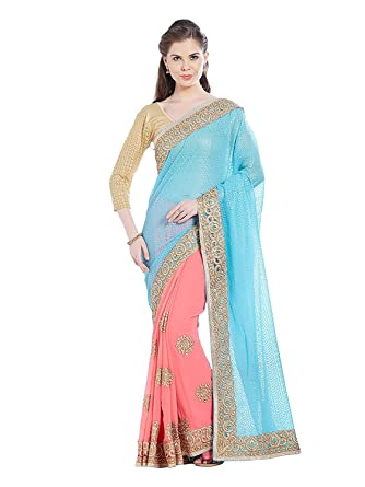 e5395decd6 Image Unavailable. Image not available for. Color: Florence Women's Chiffon  Saree ...