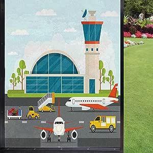 Película para ventana de aeropuerto, película de privacidad de ventana extraíble, multicolor 60 x 90 cm