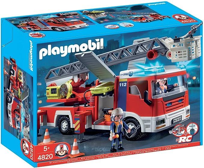 PLAYMOBIL - Camión de Bomberos con Escalera (4820): Amazon.es: Juguetes y juegos
