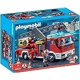 Playmobil - 4820 - Jeu de construction - Camion de pompiers grande échelle