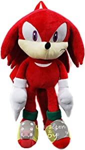 Sonic the Hedgehog Plush Backpack - KNUCKLES RED SOFT DOLL FIGURE XL018""
