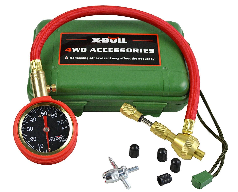 X-BULL Automatic Adjustable Tire Pressure Gauge Tire Air Deflators Operating Range 70PSI