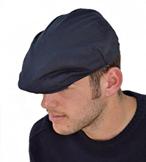 25cc4fda4 Mens Adjustable Quilted Wax Flat Caps (60 cm, Navy): Amazon.co.uk ...