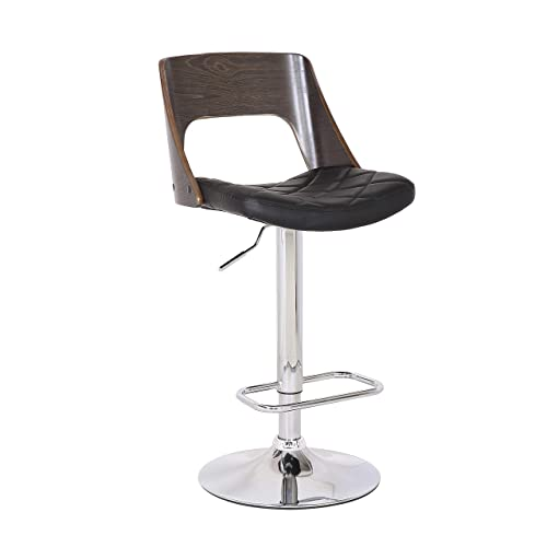AC Pacific ACBS05 Bar Stool, Weathered Oak