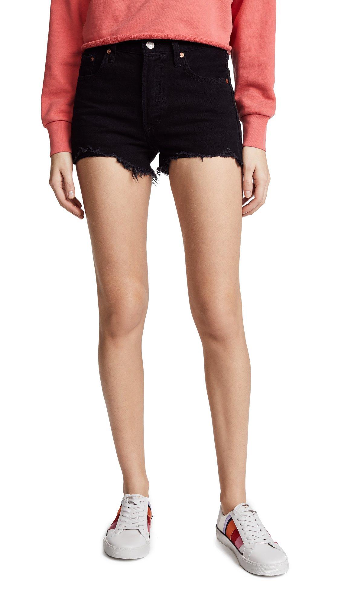 Levi's Women's 501 High Rise Shorts, Darkest Hour, 28