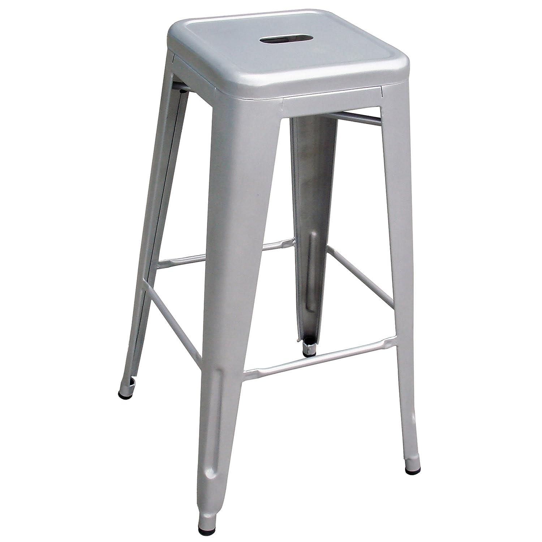 amazoncom amerihome metal bar stool set 30inch silver set of 4 kitchen u0026 dining