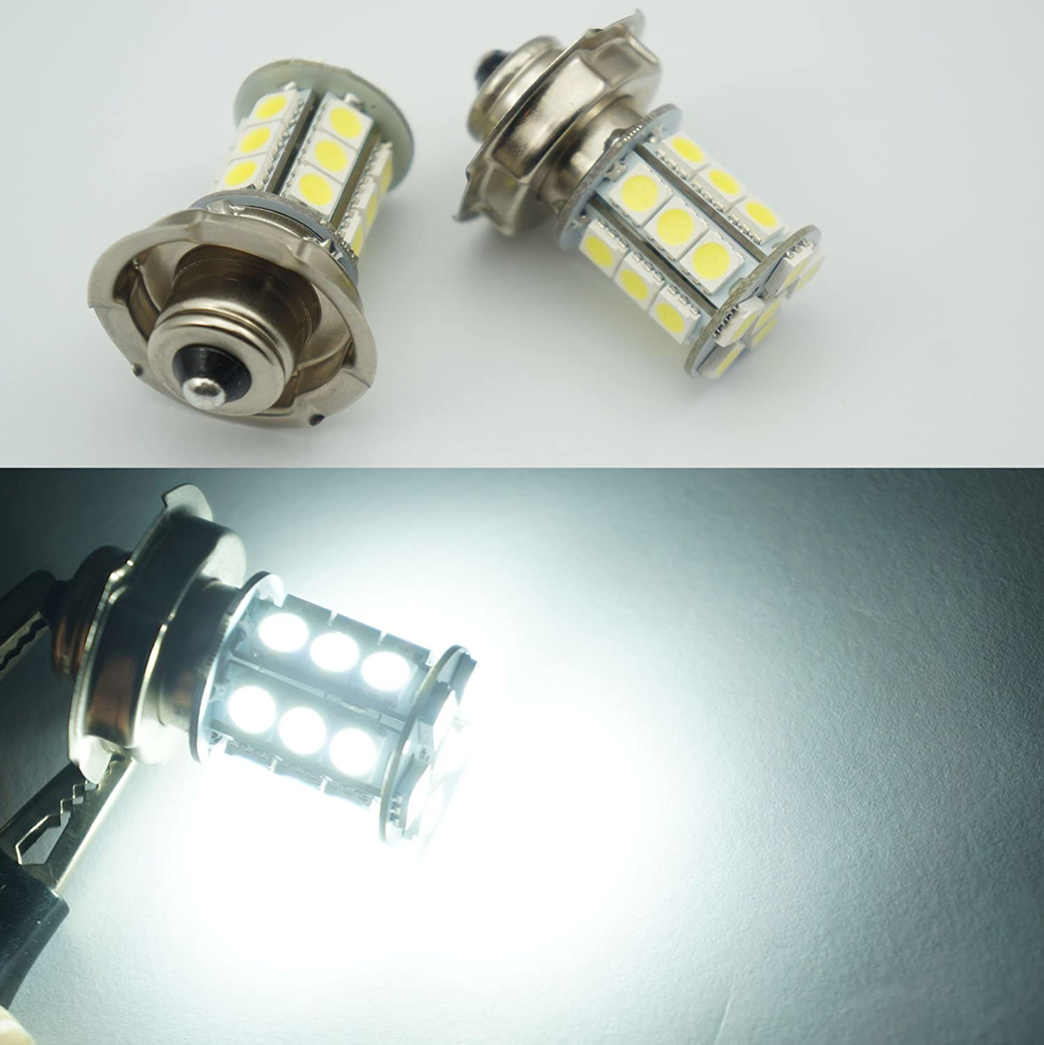 2/x Ampoule LED 12/V AC//DC P26S Scooter Roller Moto Voiture Yamaha 24/SMD P26/15/W