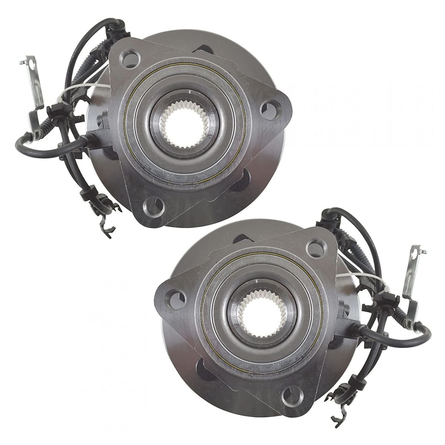 Front Wheel Hubs /& Bearings Pair Set of 2 for Dakota Durango 4WD 4x4 w//ABS