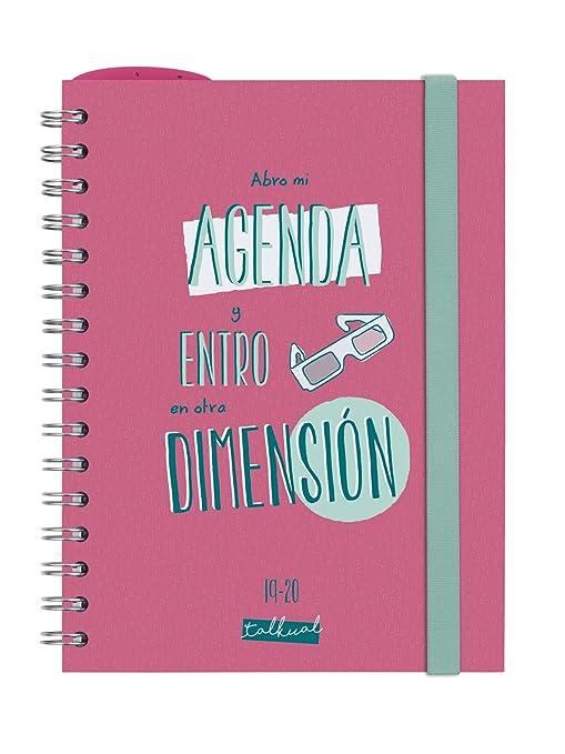 Finocam - Agenda 2019-2020 semana vista apaisada español Talkual Rosa