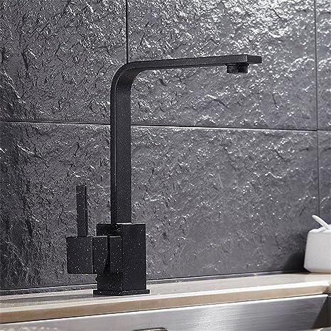 Mulfaucet Wasserhahn Armatur Hahn Wasserleitung Faucet European Style Quarz Stein Kuche Schwarz Sieben Zeichen Badezimmer Waschbecken Gemischt Amazon De Baumarkt