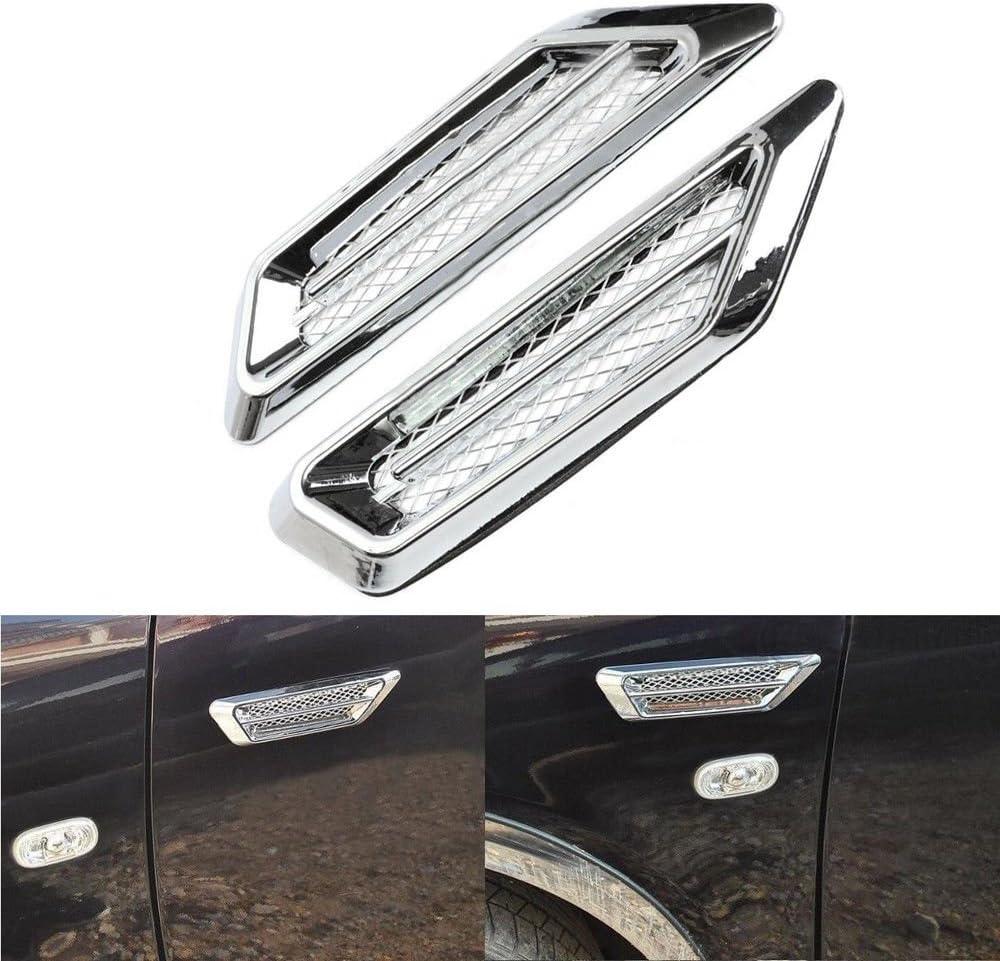 1 paire dautocollants universels pour grille da/ération de voiture Chrom/é